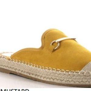 Yellow mule espadrilles Sage1